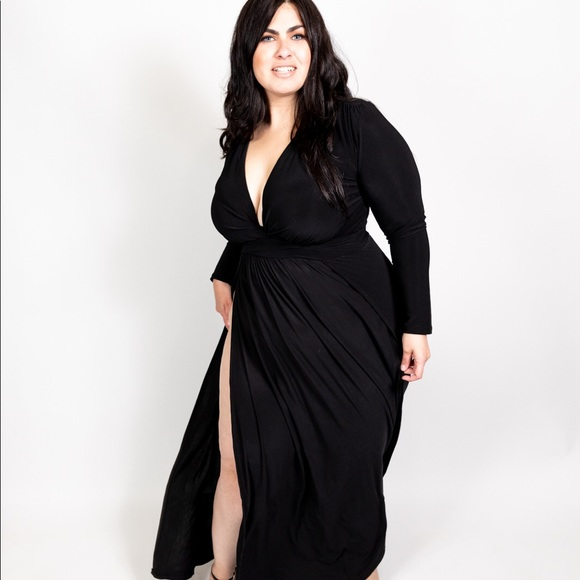 Plus Size 'Gemini' Double Slit Maxi Dress Boutique